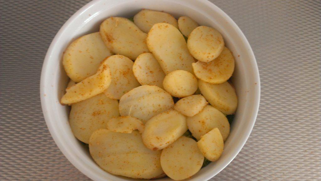 Schotel van aardappel en broccoli 3