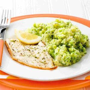 Scholfilet met broccolipuree