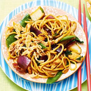 Thaise woknoedels met kip