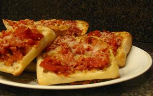 Ciabatta-pizzas