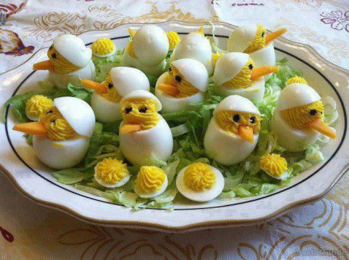 Kip eitjes hoog